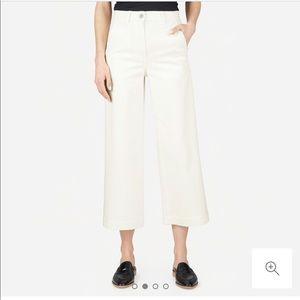 Everlane White Wide Leg Crop Pants 14